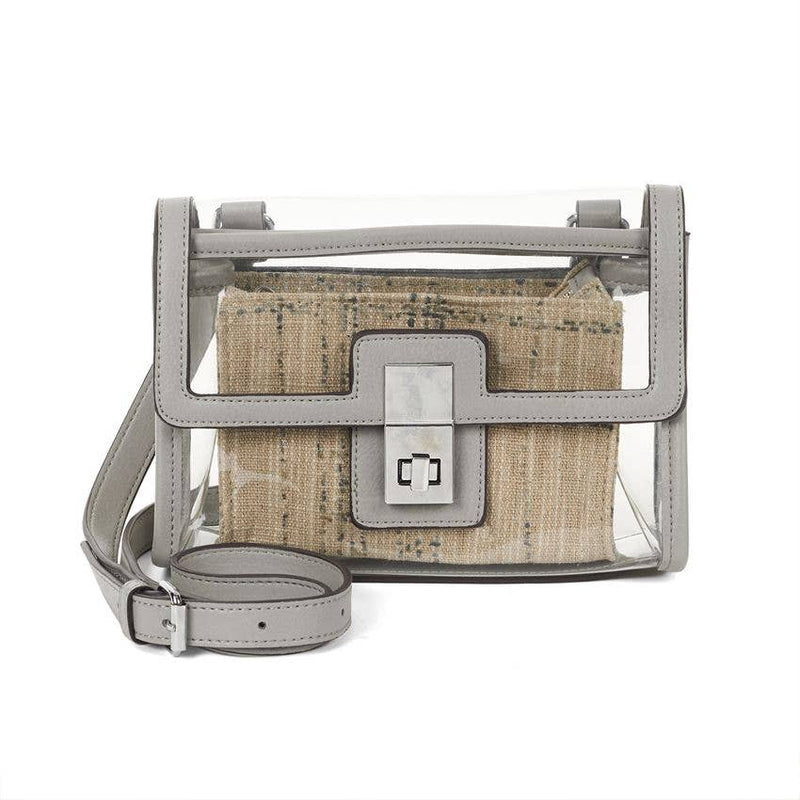 Stadium Cross-body - Grey with Tweed Insert