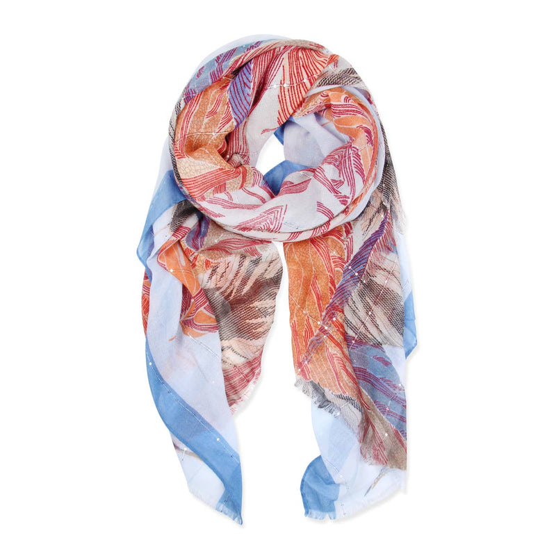 Feather's Signature Printed Scarf