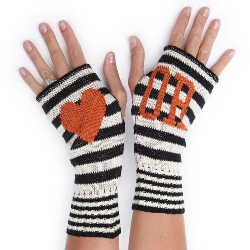 Recycled  Cotton Oregon Handwarmers - Orange