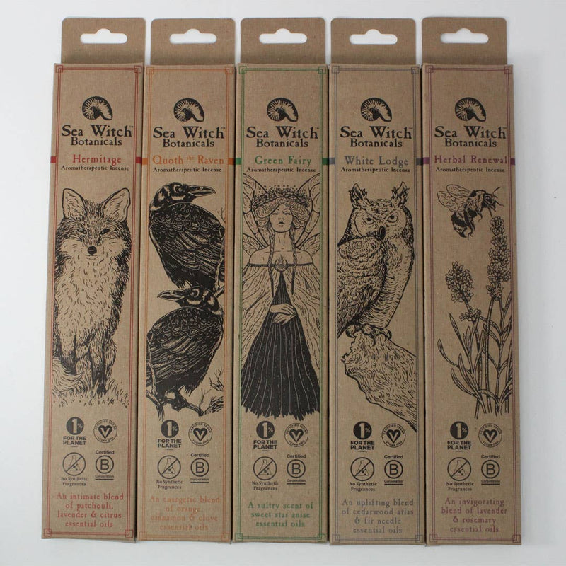 Sea Witch Botanicals - Incense Sticks - NEW - 25 Sticks in Paper Box