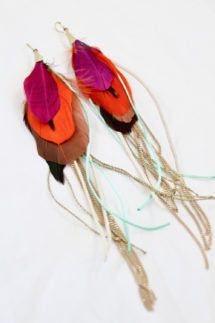 Peacock Tassel Earings