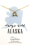 State Necklace - Gold - ALASKA