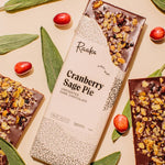 Raaka Chocolate - 67% Cranberry Sage Pie Chocolate Bar - Limited Batch 2020