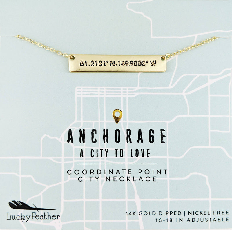 Coordinate City Necklace - Anchorage