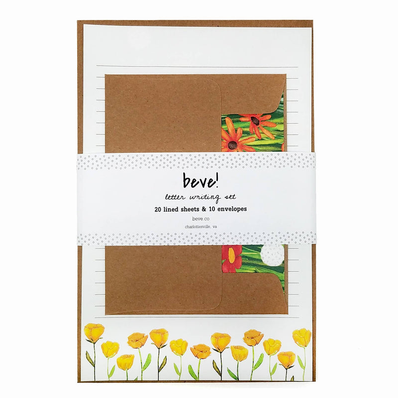 Wildflower Letter Writing Stationery Set