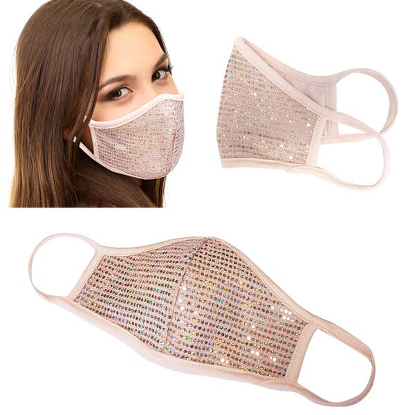 Unisex Dusty Pink Shimmery Face Mask