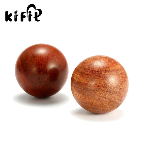 KIFIT 50mm/60mm Chinese Health Meditation Exercise Stress Relief Baoding Balls Wood Healthful Fitness Ball Relaxation Therapy