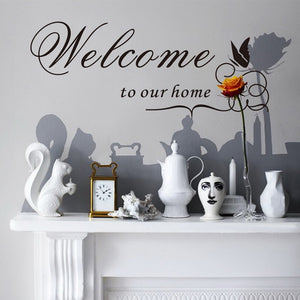 DIY Double Sided Visual Letter Wall Sticker Welcome to our home