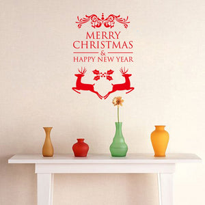 New Year and Christmas festival Merry Christmas Wall Stickers