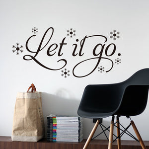 """ Let It Go "" Family living room sofa wall decals home decoration wallpaper"