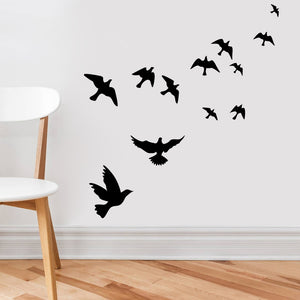Flying Birds Wall Stickers DIY Home Decoration TV Background Wall Poster