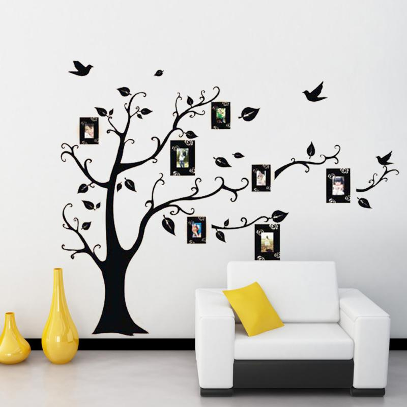 DIY Photo Tree Family Wall Stickers PVC Wall Decals Adhesive Mural