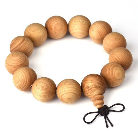 15mm 18mm 20mm Natural Wood Beads Strand Bracelets For Women Men Health Plant Wooden Yoga Meditation Wristband Male Jewelry
