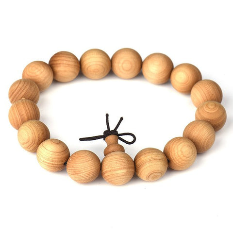 Image of 15mm 18mm 20mm Natural Wood Beads Strand Bracelets For Women Men Health Plant Wooden Yoga Meditation Wristband Male Jewelry
