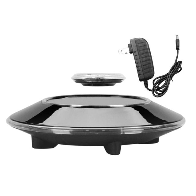 Magnetic Suspension Flying Saucer Showing Shelf