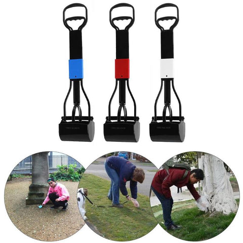 Image of Long Handle Puppy Pet Dogs Pooper Scooper Cleaning Pick Up Grabber Remover Dog Grooming Tools Pet Products