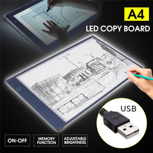 Super Thin A4 USB LED Light Pad Artist Tattoo Stencil Board Light Box Table