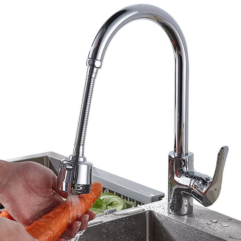 Image of New Stainless Steel Faucet Extension Bubbler Rotate Shower Head Lengthen Tap Water Filter Home Kitchen Bathroom Sink Accessories