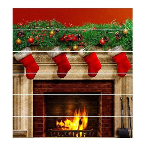 Image of 3D Xmas DIY Steps Sticker Removable Stair Stickers Home Decor Ceramic Tiles