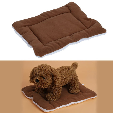 Image of Warm Soft Fleece Pet Dog Cat Bed Mats Cushions Indoor Air Conditioning