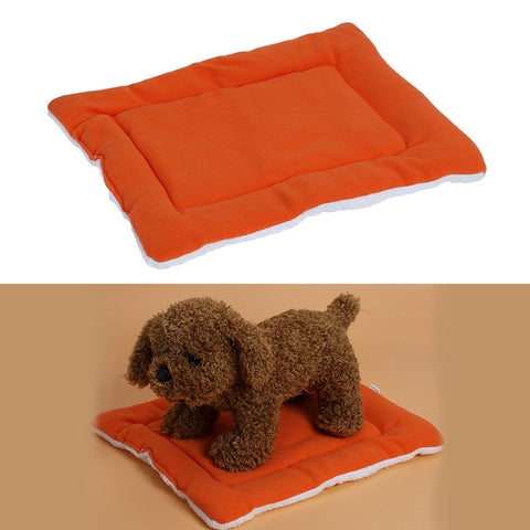 Warm Soft Fleece Pet Dog Cat Bed Mats Cushions Indoor Air Conditioning