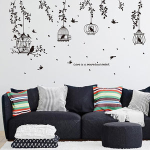 Black Birds DIY PVC Wall Decals Self-Adhesive Removable Wall Decoration