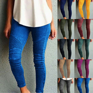 Casual Skinny Women Pants Oversize Elastic Ankle Length Pencil Pants