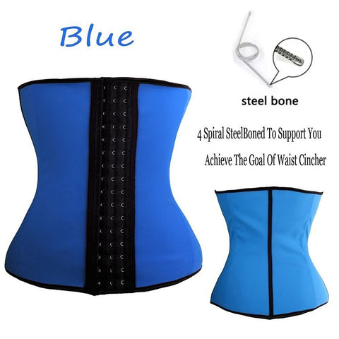 Image of Latex Waist Steel Boned Waist Trainer Corset Underwear Slimming Body Shaper