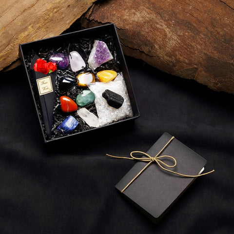 Rock & Mineral Collection Specimens Geology Science Earth Toy Box Of 12pcs Crystal Cosmic Energy Health Meditation Set