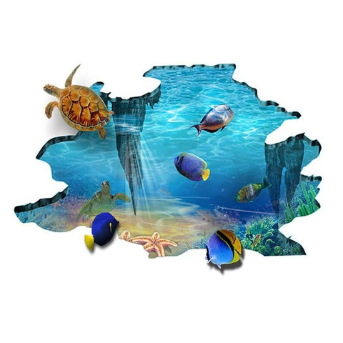 3D Galaxy Underwater World Wall Stickers for Ceiling Roof
