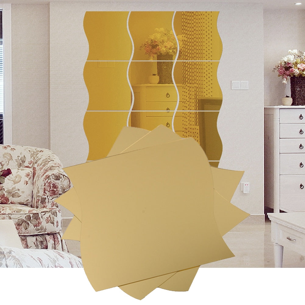 High-end 2 Colors 3D stereoscopic home dressing room mirror stickers wall
