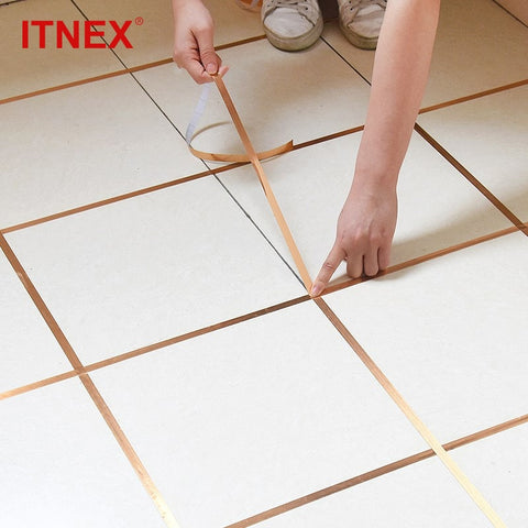ITNEX 50meters Bathroom Accessories Sets Wall Sealing Tape Waterproof gap sealing tape Strip Adhesive Floor tile Home Decoration