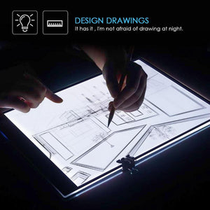 A4 Digital Tablets LED Light Box Drawing Tracing Tracer Copy Board Table Pad Panel