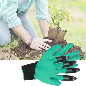 ABS Plastic Claws Gloves Supplies Garden Plant Digging Gloves Protective Safety Household Garden Planting Tools