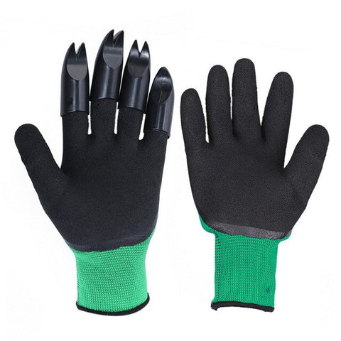Garden Gloves Quick Easy to Dig Rubber Gloves For Garden Digging Planting With 4 ABS Plastic Claws