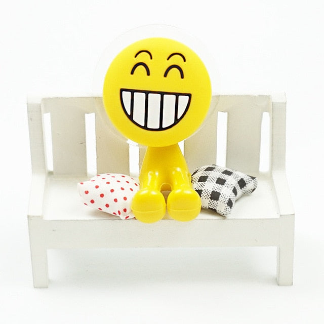 QQ Emoji Sucker Toothbrush Holder Super Suction Cup Hook Multi-functional Funny Expression Face Rack Home Bathroom Accessories