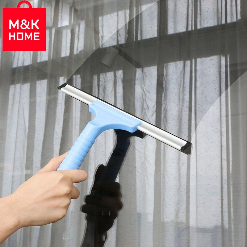 M&K HOME Universal Glass Window Wiper Soap Cleaner Squeegee Shower Bathroom Mirror Car Blade Brush Car Styling Accessories