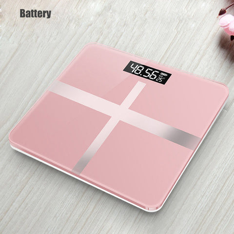 ONEUP Bathroom Body Scales Glass Smart Household Electronic Digital Floor Weight Balance Bariatric LCD Display Home Accessories