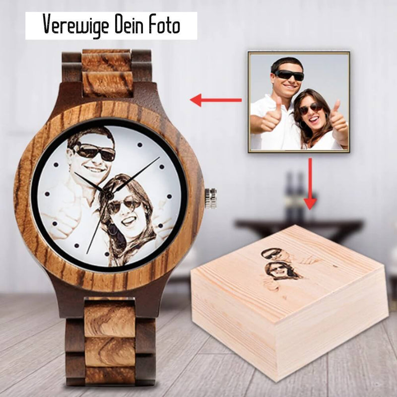 Wood o'clock - Fotouhr