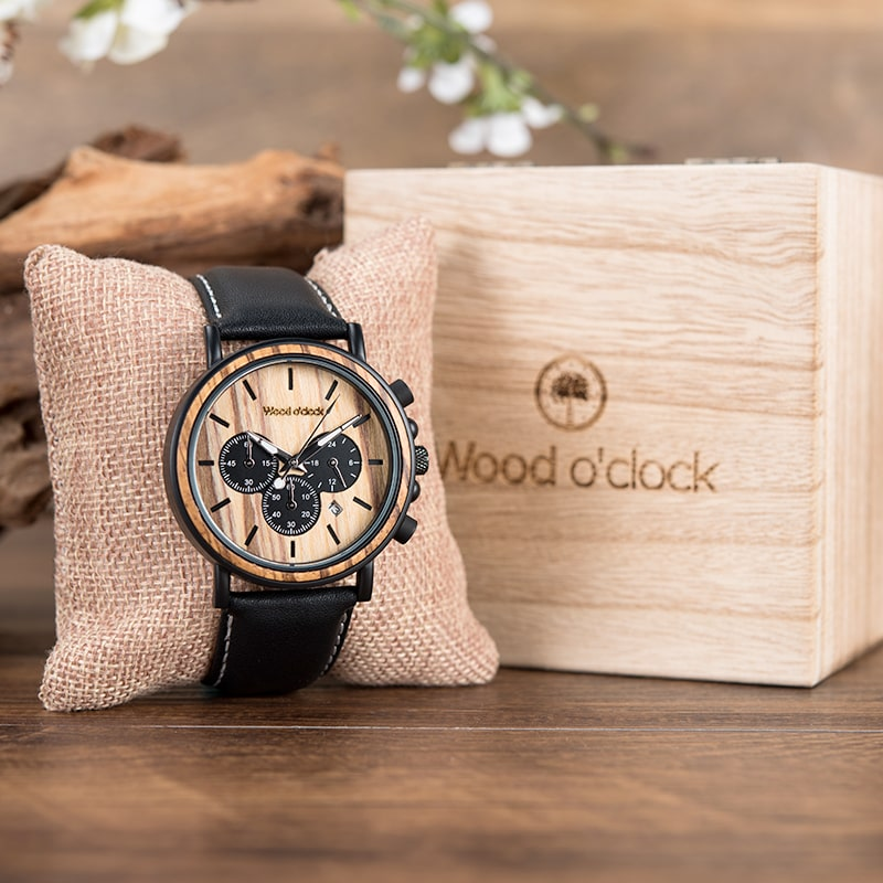 Wood o'clock - Haselbraun
