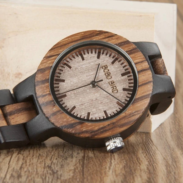 Wood o'clock - Zebrano