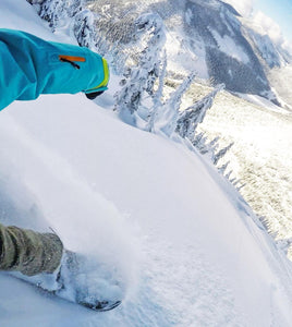 alexa still stoked snowboarding mountain alaska heli skiing eco clothing slow fashion inspiration