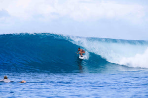 Giuliana Manfrinis legends of the wayside surfer sponsored goofy Italian born surfing and apnea training in  North Sumatra barrel tropical water left  .jpg