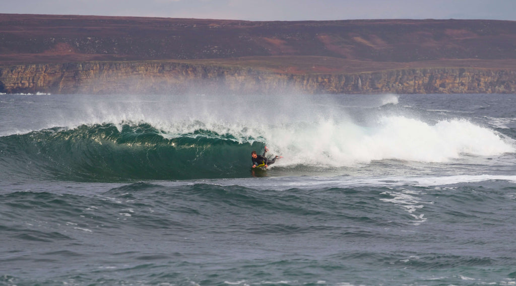 Chris Burton bodyboarder scotland cold water barrel blog water sports inspiration recycled reused eco clothing brand