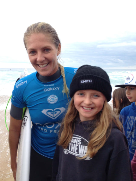 lauren sandland surfer meeting steph gilmore hossegor wsl competition legends of the wayside