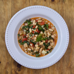 Tuscan White Beans - Gluten Free & Vegan - Serving for one shown, each order includes two servings