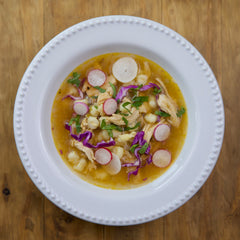 Chicken Posole - Gluten Free - Serving for one shown, each order includes two servings