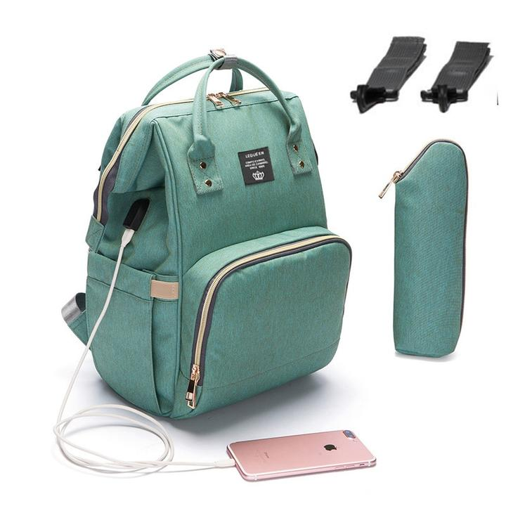 DiaperExpress™ Ultimate USB Charger Diaper Bag