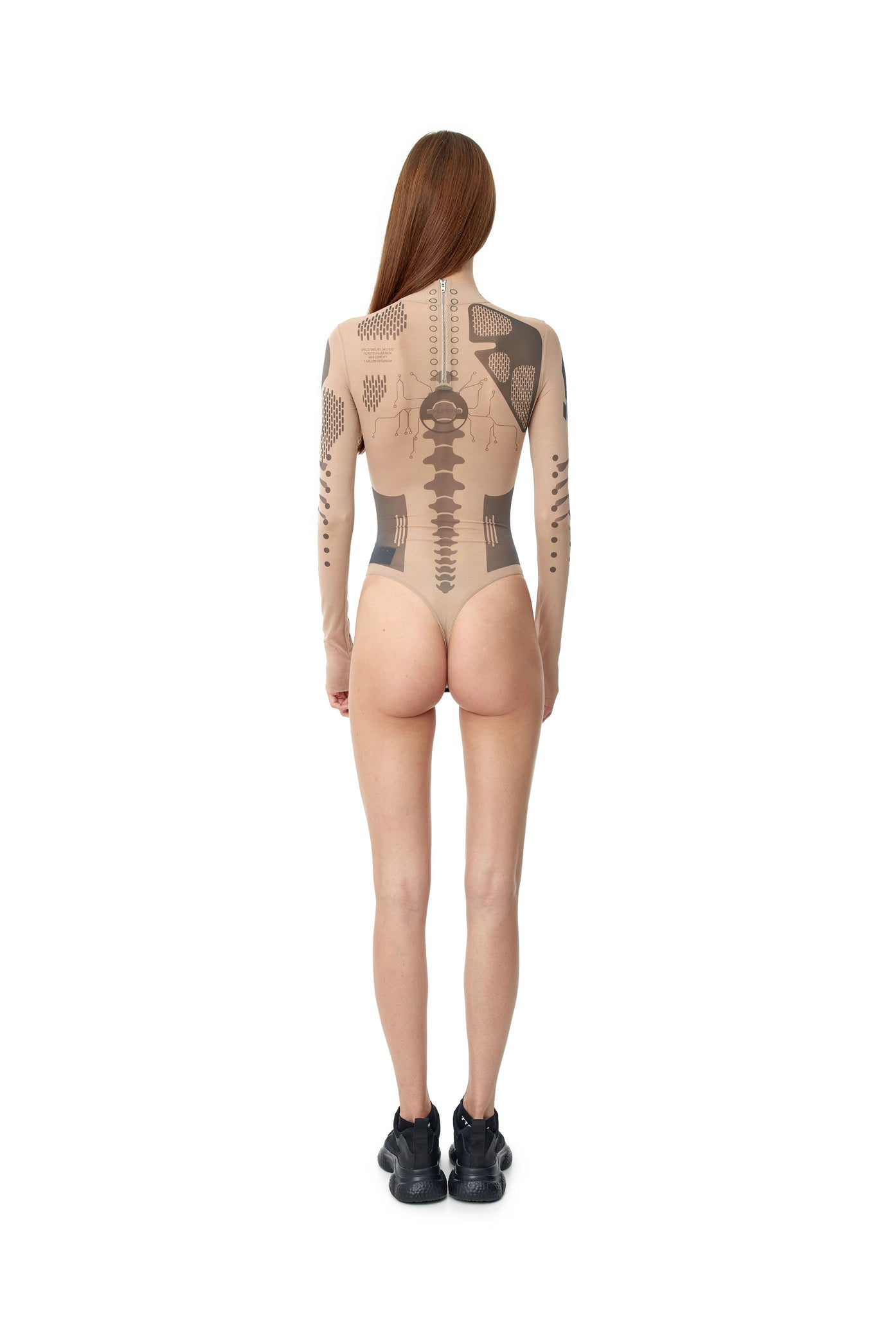 TATTOOED MESH BODYSUIT
