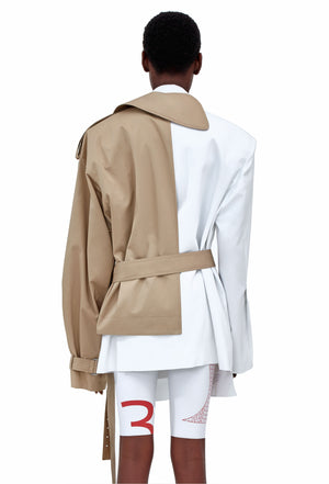 JACKET WITH HALF-COAT